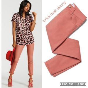 Cabi Brick Dust Pink Skinny Jeans Style 5310